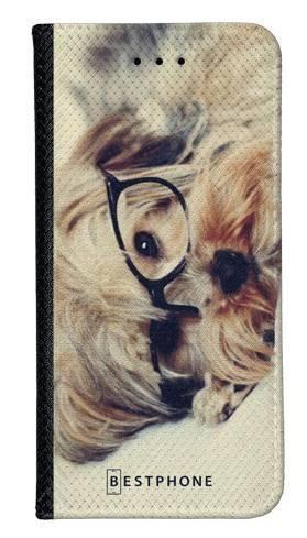 Portfel Wallet Case LG K40 pies w okularach