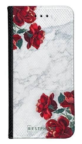 Portfel Wallet Case LG K40 róże i marmur