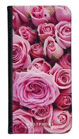 Portfel Wallet Case LG K40 różowe róże