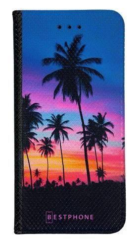Portfel Wallet Case LG K40 wieczorne palmy