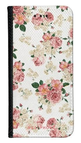 Portfel Wallet Case Samsung Galaxy A10e beżowe kwiatki