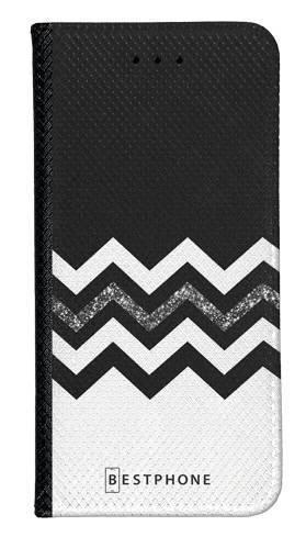 Portfel Wallet Case Samsung Galaxy A10e biało czarny szlaczek