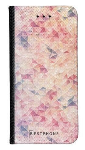 Portfel Wallet Case Samsung Galaxy A20e różowe trójkąciki