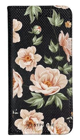 Portfel Wallet Case Samsung Galaxy A5 róże na czarnym