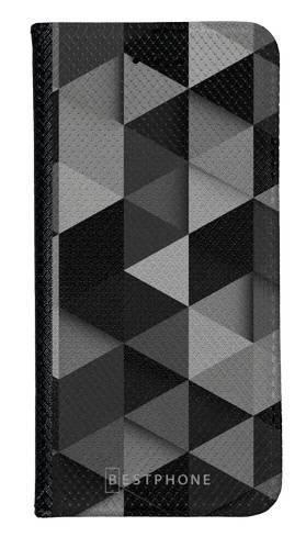 Portfel Wallet Case Samsung Galaxy A60 czarne trójkąty