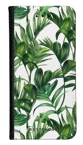 Portfel Wallet Case Samsung Galaxy A60 liście tropikalne