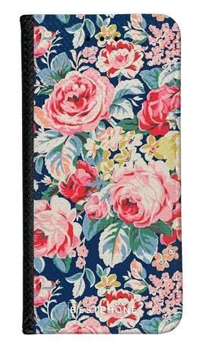 Portfel Wallet Case Samsung Galaxy A60 niebieskie kwiaty vintage