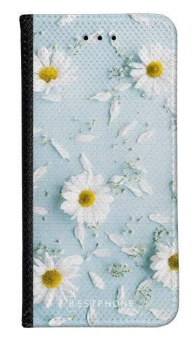 Portfel Wallet Case Samsung Galaxy A60 stokrotki na błękiciw