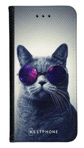 Portfel Wallet Case Samsung Galaxy Core Prime kot w okularach galaxy