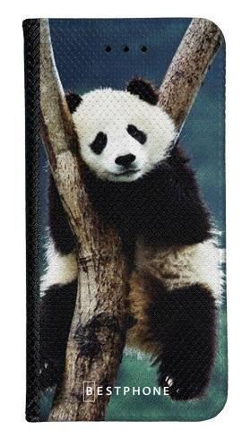 Portfel Wallet Case Samsung Galaxy Note 10 Pro panda na drzewie