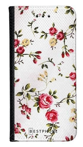 Portfel Wallet Case Samsung Galaxy Note 10 haftowane kwiatki