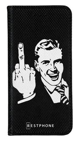 Portfel Wallet Case Samsung Galaxy Note 10 middle finger