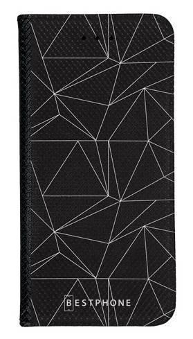 Portfel Wallet Case Samsung Galaxy Note 10 trójkątny wzór biały
