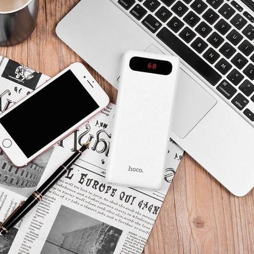 Power Bank Powerbank 20000mAh Hoco LCD B20A bateria zewnętrzna biały
