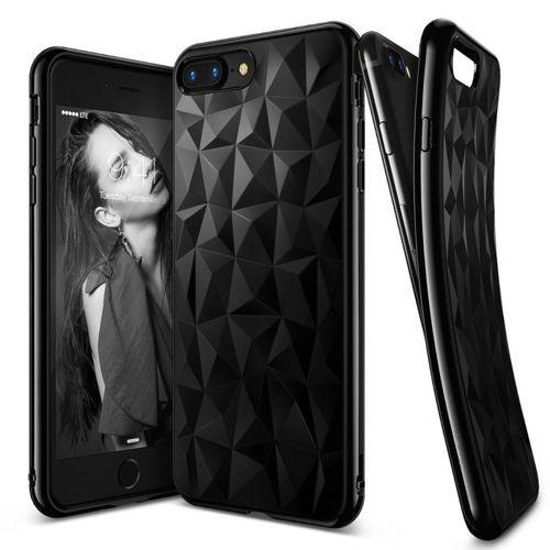 Ringke Air Prism designerskie żelowe etui pokrowiec 3D iPhone 8 Plus / 7 Plus czarny (APAP0006-RPKG)