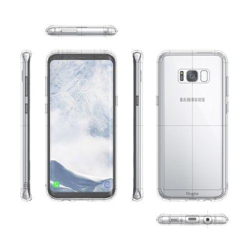 Ringke Fusion etui pokrowiec z żelową ramką Samsung Galaxy S8 Plus G955 szary (FSSG0026-RPKG)