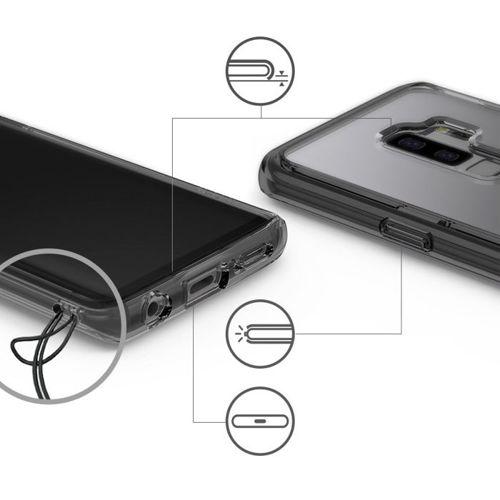 Ringke Fusion etui pokrowiec z żelową ramką Samsung Galaxy S9 Plus G965 fioletowy (FSSG0041-RPKG)