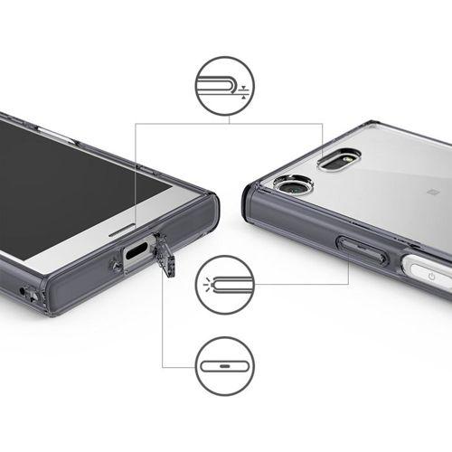 Ringke Fusion etui pokrowiec z żelową ramką Sony Xperia XZ1 Compact przezroczysty (FSSN0016-RPKG)