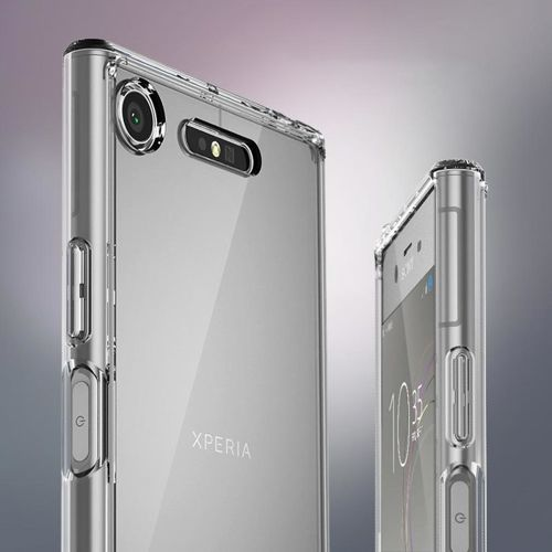 Ringke Fusion etui pokrowiec z żelową ramką Sony Xperia XZ1 czarny (FSSN0014-RPKG)