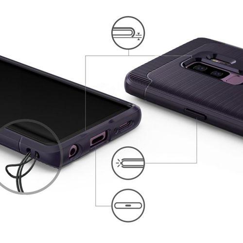 Ringke Onyx wytrzymałe etui pokrowiec Samsung Galaxy S9 Plus G965 czarny (OXSG0007-RPKG)