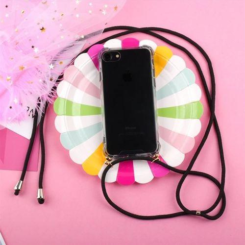 Rope case żelowe etui ze smyczą torebka smycz Huawei P30 Lite przezroczysty