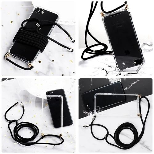 Rope case żelowe etui ze smyczą torebka smycz iPhone 8 / iPhone 7 przezroczysty