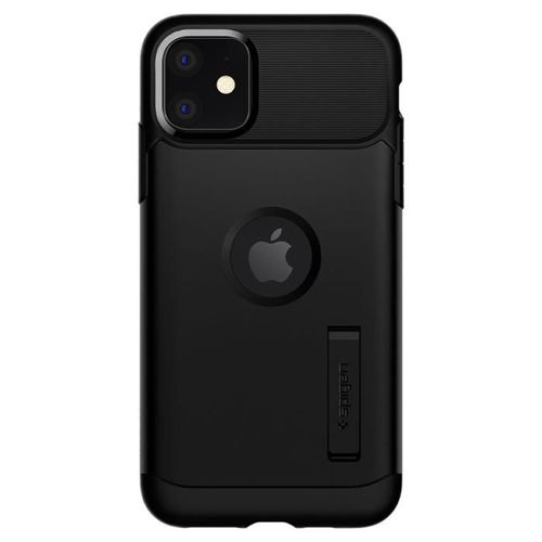 SPIGEN SLIM ARMOR IPHONE 11 BLACK + Szkło SPIGEN FC