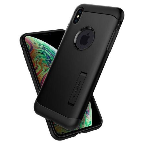 SPIGEN SLIM ARMOR IPHONE XS MAX BLACK + szkło 5D UV