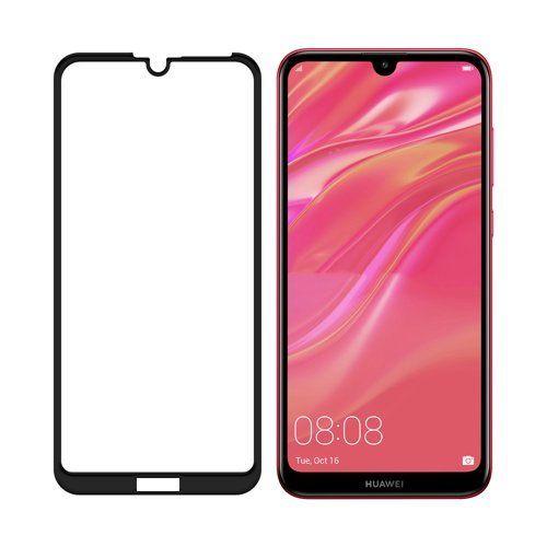 SZKŁO HARTOWANE FULL GLUE Huawei Y6 2019 / PRO / PRIME czarny