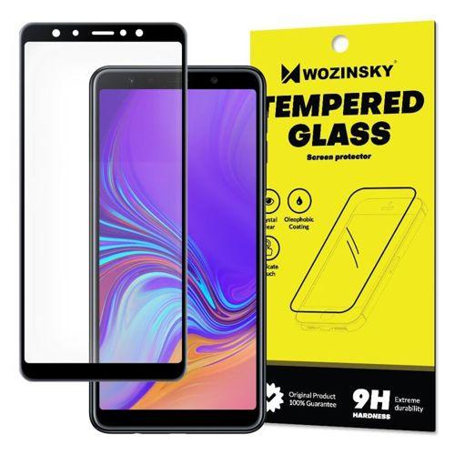 SZKŁO HARTOWANE FULL GLUE Samsung Galaxy A7 2018 A750 czarny