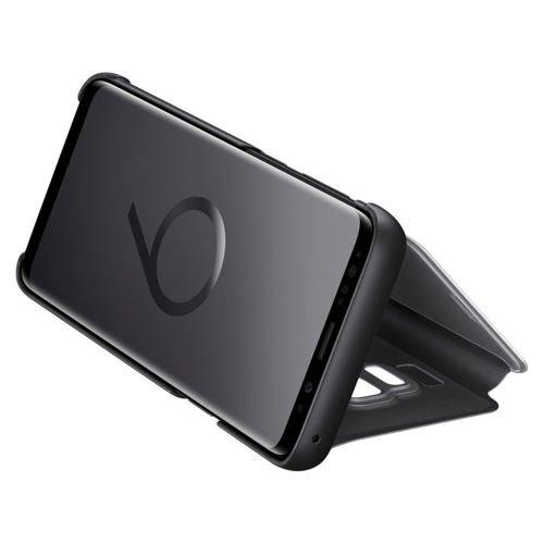 Samsung Clear View Standing Cover futerał etui z inteligentną klapką Samsung Galaxy S9 G960 czarny