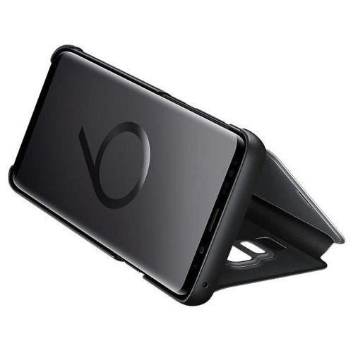 Samsung Clear View Standing Cover futerał etui z inteligentną klapką Samsung Galaxy S9 Plus G965 czarny