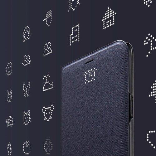 Samsung LED View Cover etui pokrowiec z wyświetlaczem LED Samsung Galaxy S9 G960 czarny