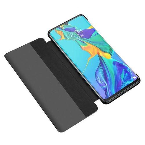 Sleep Case pokrowiec etui z klapką typu Smart Cover Huawei P30 czarny