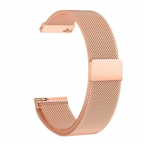 TECH-PROTECT MILANESE opaska pasek bransoleta BAND Garmin Vivoactive 4S 18mm ROSE GOLD