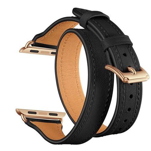 TECH-PROTECT opaska pasek bransoleta LONGCHARM APPLE WATCH 1/2/3 (38MM) BLACK/GOLD