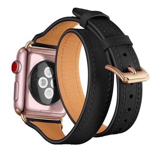 TECH-PROTECT opaska pasek bransoleta LONGCHARM APPLE WATCH 1/2/3 (42MM) BLACK/GOLD