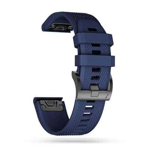 TECH-PROTECT opaska pasek bransoleta SMOOTH GARMIN FENIX 5/6/6 PRO NAVY BLUE