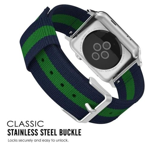TECH-PROTECT opaska pasek bransoleta WELLING APPLE WATCH 1/2/3 (42MM) NAVY/GREEN