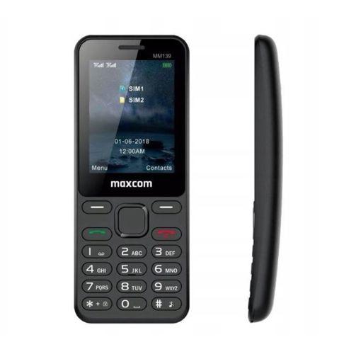 Telefon komórka MAXCOM MM139 zakrzywiony poręczny czarny