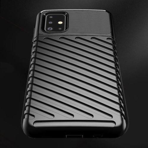 Thunder Case elastyczne pancerne etui pokrowiec Samsung Galaxy A51 czarny