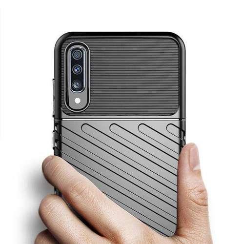 Thunder Case elastyczne pancerne etui pokrowiec Samsung Galaxy A70 czarny