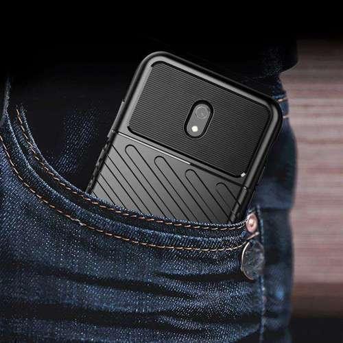 Thunder Case elastyczne pancerne etui pokrowiec Xiaomi Redmi 8A czarny