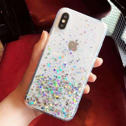 Wozinsky Star Glitter błyszczące etui pokrowiec z brokatem iPhone 8 Plus / iPhone 7 Plus czarny