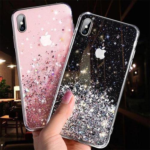 Wozinsky Star Glitter błyszczące etui pokrowiec z brokatem iPhone SE 2020 / iPhone 8 / iPhone 7 zielony