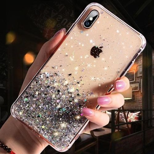 Wozinsky Star Glitter błyszczące etui pokrowiec z brokatem iPhone XR przezroczysty