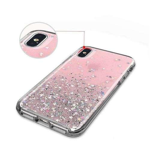 Wozinsky Star Glitter błyszczące etui pokrowiec z brokatem iPhone XS Max przezroczysty