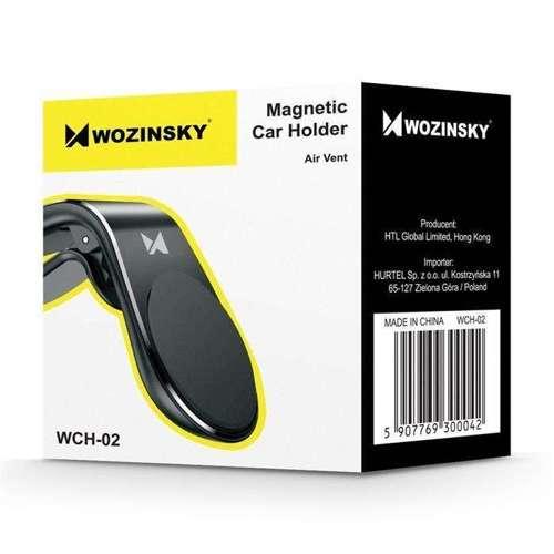 Wozinsky magnetyczny uchwyt samochodowy na kratkę wentylacyjną nawiew czarny (WCH-02)