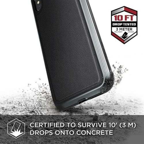 X-DORIA DEFENSE LUX IPHONE X / XS BLACK LEATHER