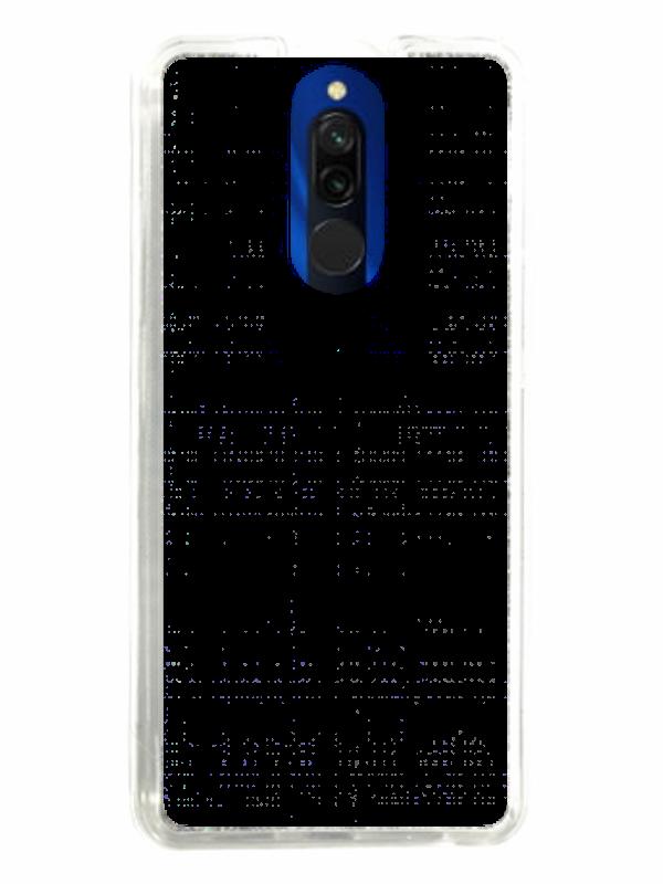 ZAPROJEKTUJ SWOJE ETUI Z BROKATEM Xiaomi Redmi 8 Srebrny